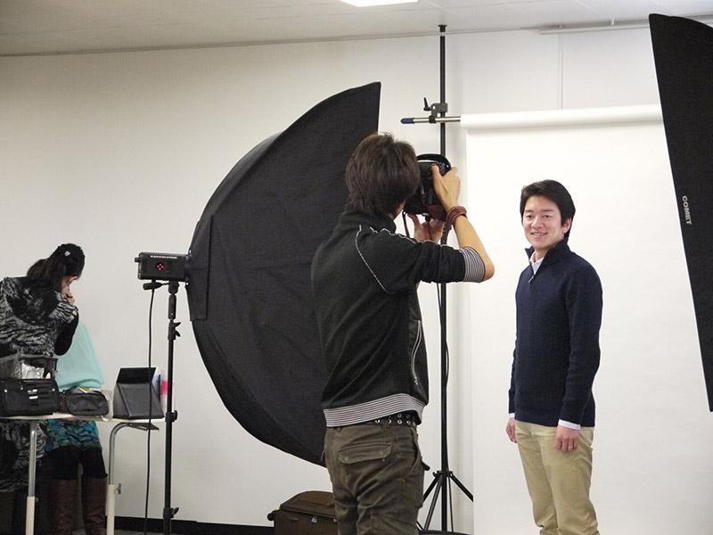 メイク風景&撮影風景:ソーシャル写真撮影会(メイク付)プロカメラマンに撮影してもらおう!
