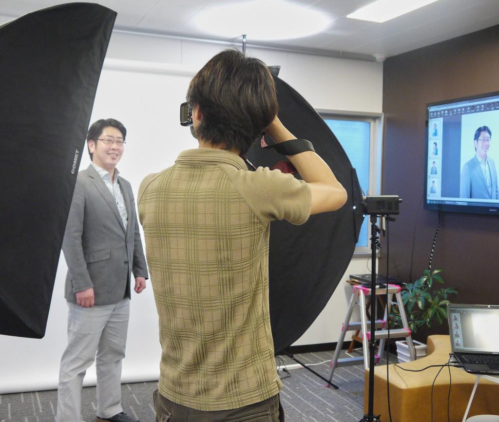 撮影風景:第二回ソーシャル写真撮影会(メイク付)プロカメラマンに撮影してもらおう!(2012/04/26)